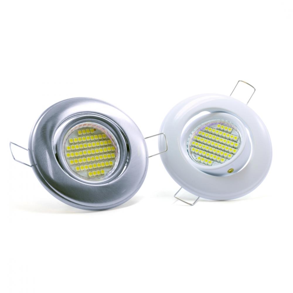 3 6 watt led spot mit mr16 o gu10 fassung einbaurahmen einbauleu. Black Bedroom Furniture Sets. Home Design Ideas