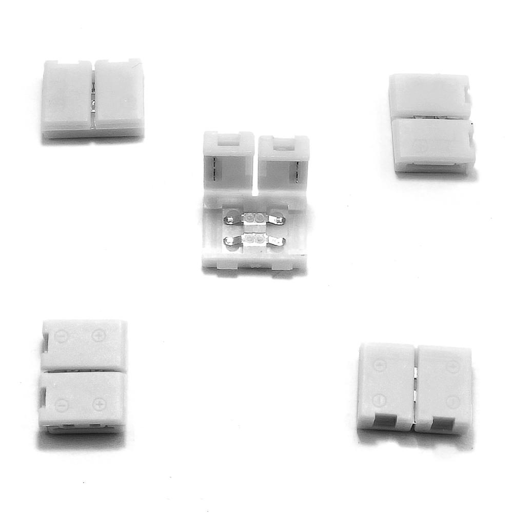 5x 8mm led strip leiste schnellverbinder adapter. Black Bedroom Furniture Sets. Home Design Ideas