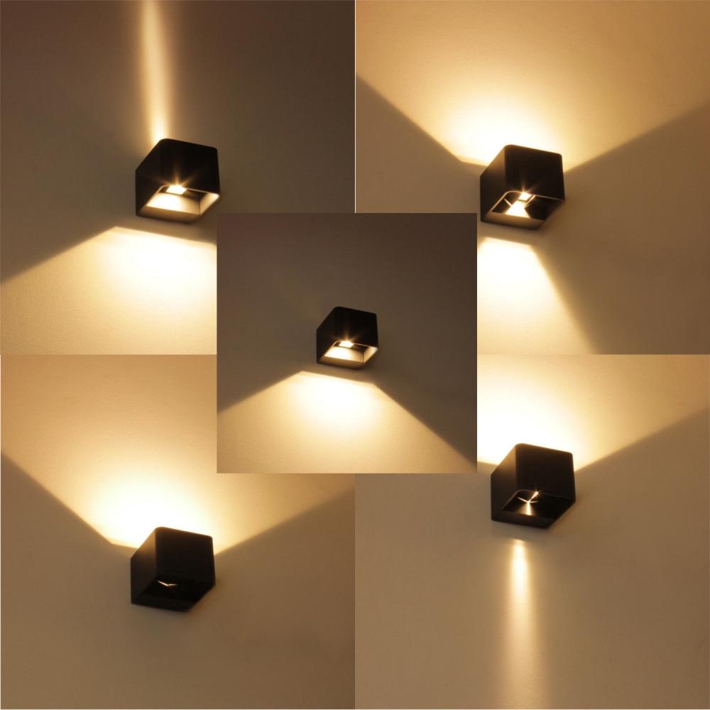 6 watt led wandleuchte aussenwandleuchte fassadenleuchte. Black Bedroom Furniture Sets. Home Design Ideas