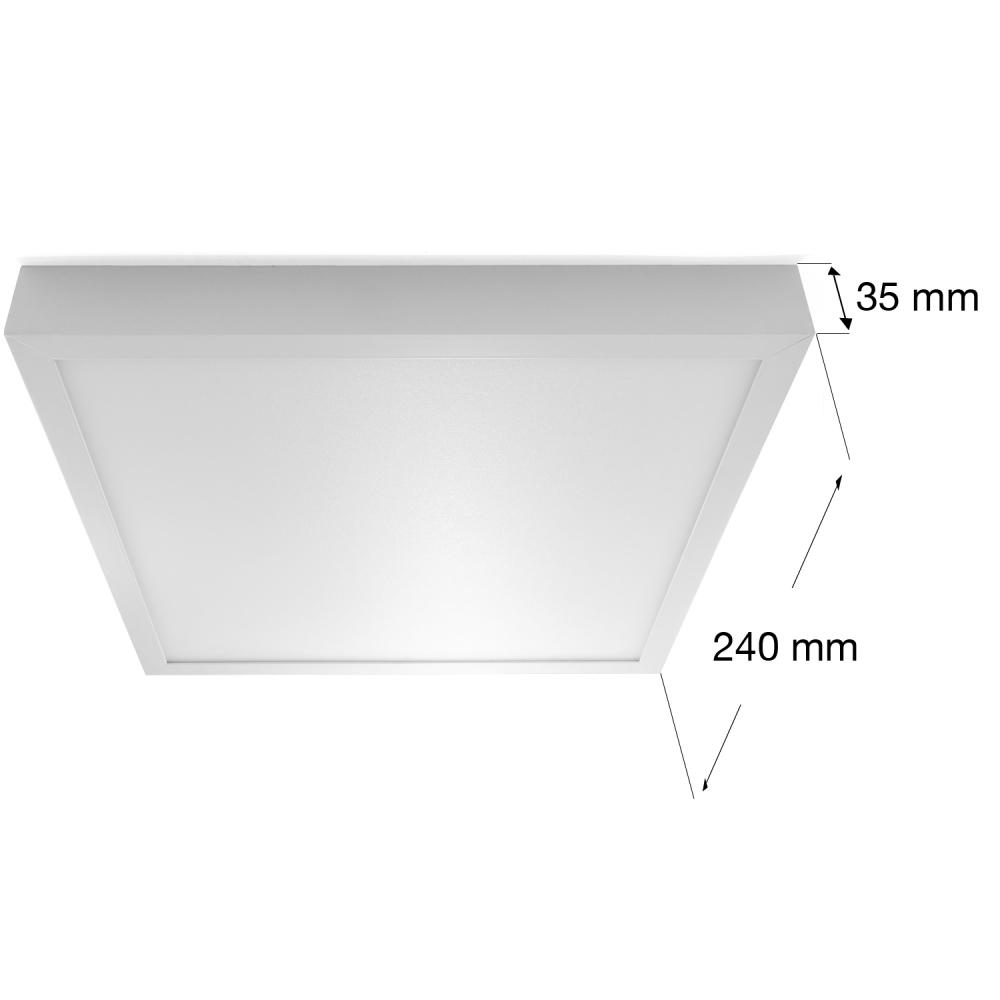 led 18w aufputz aufbau deckenlampe leuchte panel flach eckig warmwei. Black Bedroom Furniture Sets. Home Design Ideas