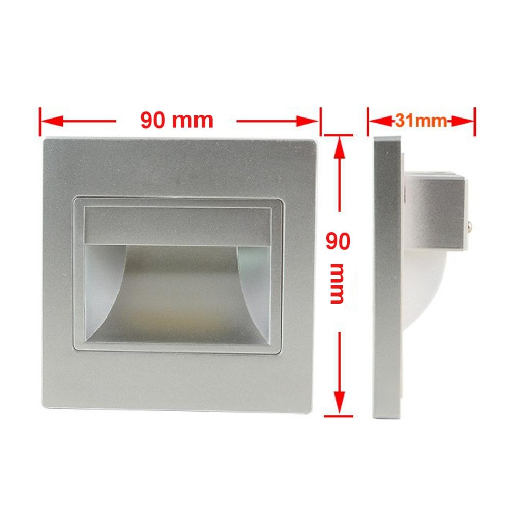 LED COB Einbau Wandleuchte Stufenlicht Stufenleuchte  -> Led Wandleuchte Einbau