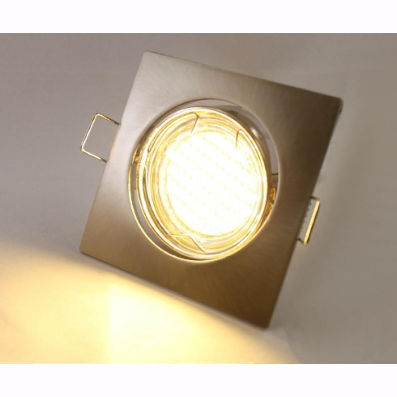 led einbaustrahler einbauleuchte eckig flach set lampe. Black Bedroom Furniture Sets. Home Design Ideas