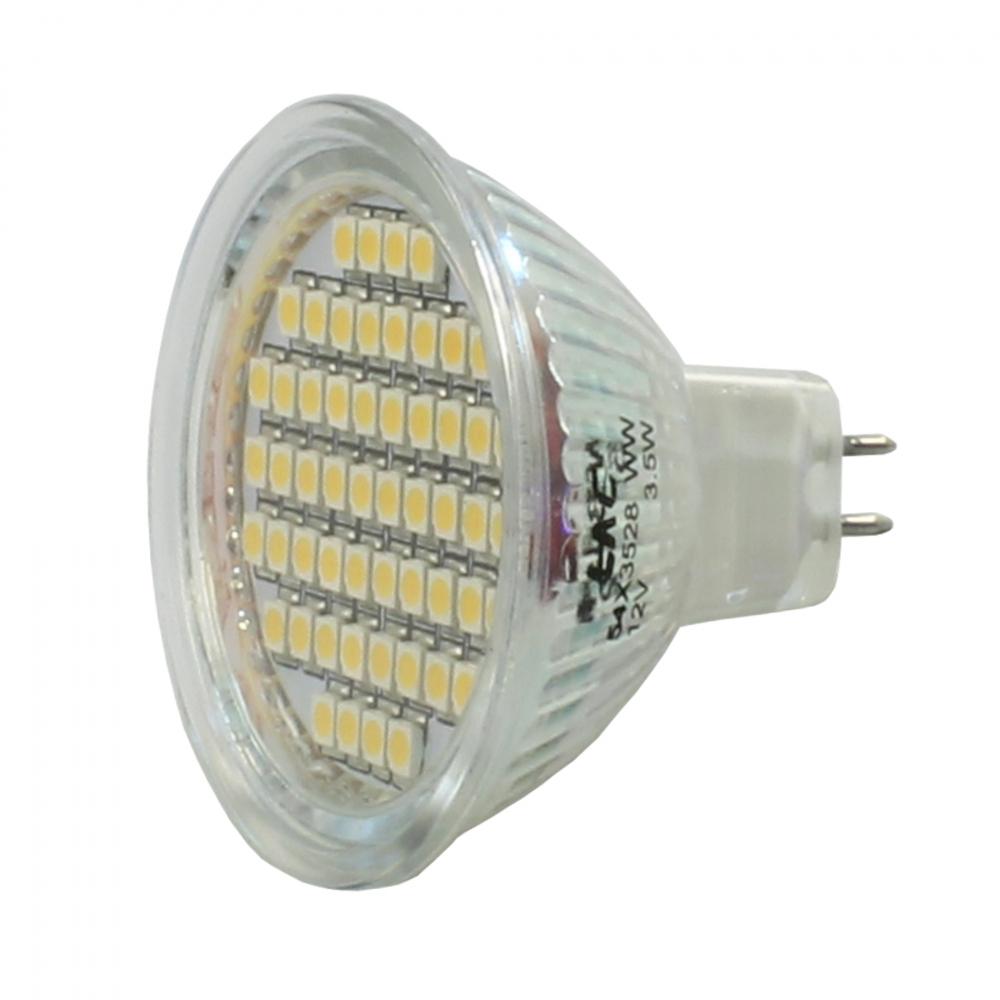 mr16 gu5 3 lampe licht spot mit 60 smd led kaltwei 12v. Black Bedroom Furniture Sets. Home Design Ideas